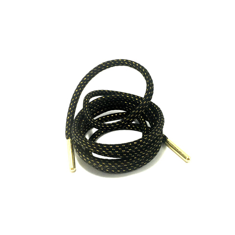 black gold thread rope shoelaces aglets