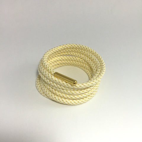 white gold thread rope shoelaces