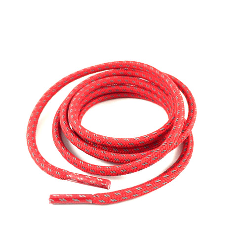 3m reflective cross grain red rope shoelaces