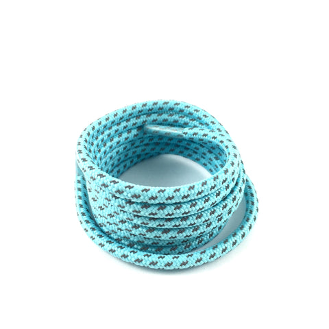 3m cross grain baby blue reflective rope laces shoelaces
