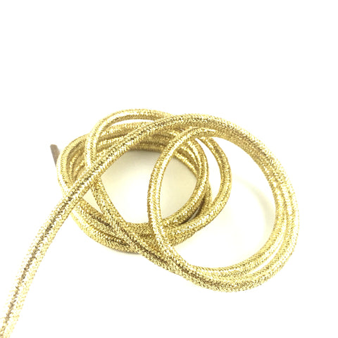 metallic gold rope laces