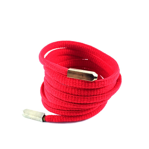 red oval laces gold yeezy aglets