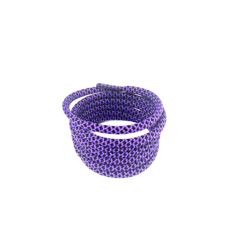 2tone black purple rope shoelaces