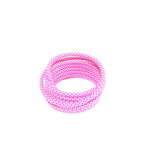 2tone white pink rope shoelaces laces