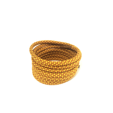 2tone gold brown rope shoelaces