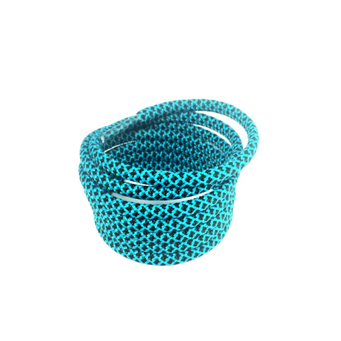 2tone jade green black rope shoelaces laces