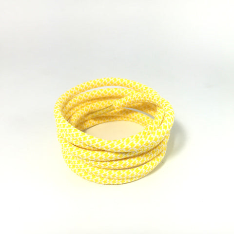 2tone python yellow rope shoelaces