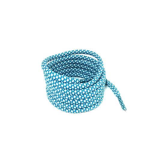2tone emerald blue rope shoelaces