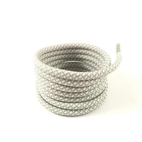 2tone cloudy grey rope shoelaces
