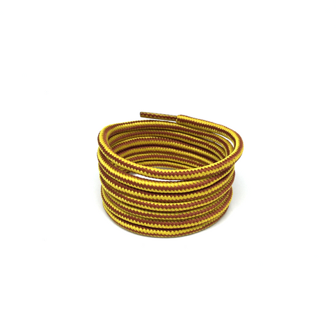 3m reflective yellow brown shoelaces rope