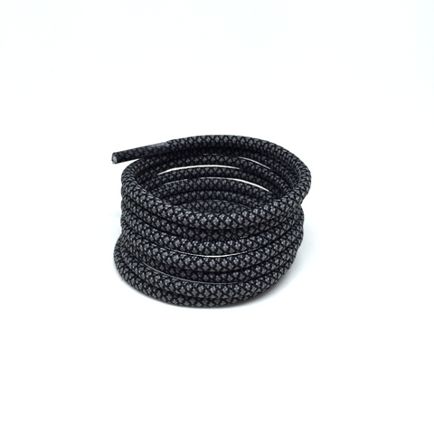2tone charcoal grey rope shoelaces laces