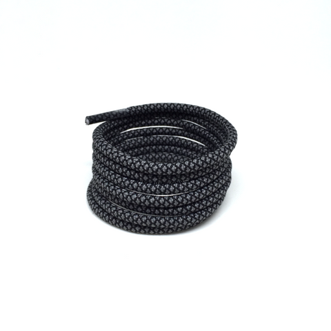 2tone charcoal grey rope laces shoelaces