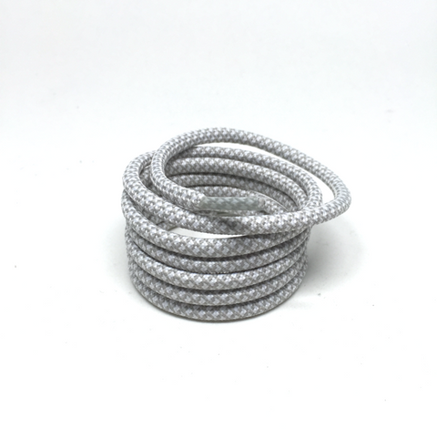 2tone cloudy grey rope shoelaces laces