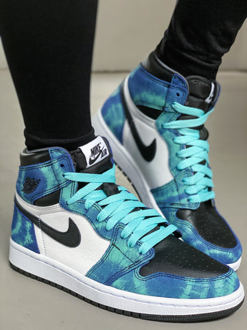 Where to buy shoe laces for the NIKE Air Jordan 1 Tie Dye Womens?