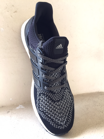 adidas ultra boost flat shoelaces laces 2tone charcoal grey