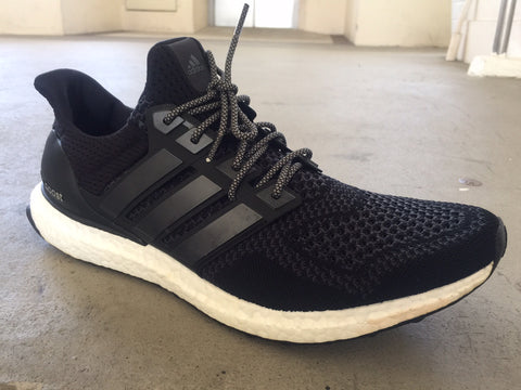 ultra boost black charcoal grey rope shoelaces laces