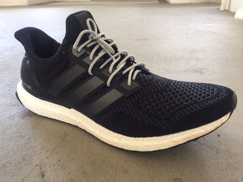 adidas ultra boost black grey shoelaces laces moonrock