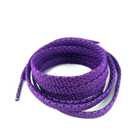 3m reflective flat shoelaces purple