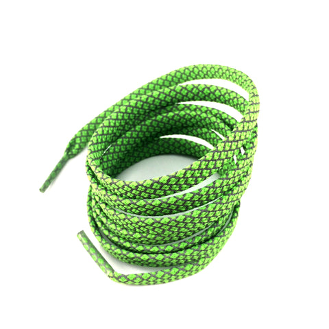 3m reflective flat shoelaces green
