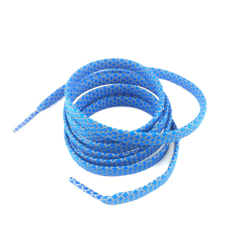 3m reflective flat shoelaces blue