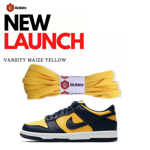 Where to buy Varsity Maize Yellow shoe laces?   Slickieslaces