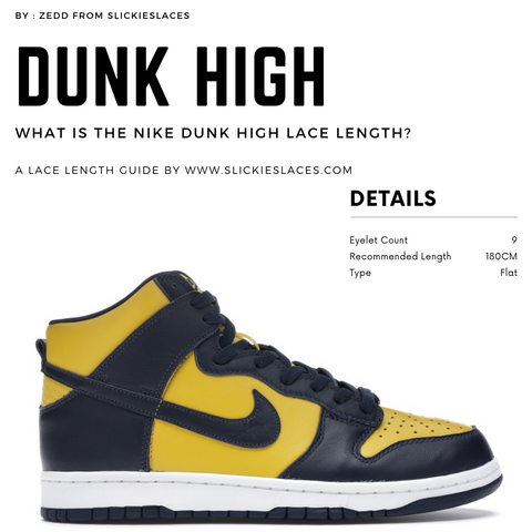 What is the NIKE Dunk High lace length? - Dunk High Replacement Laces
