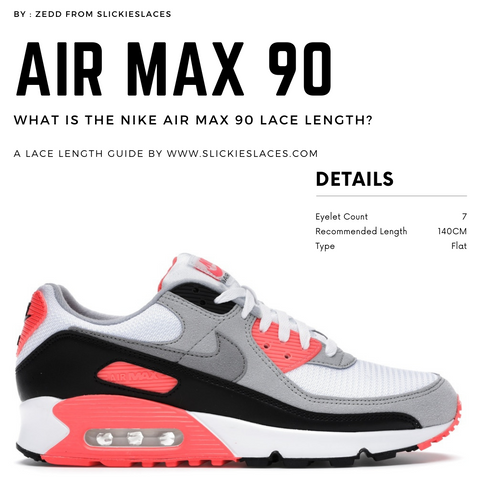 What is the NIKE Air Max 90 lace length? - Air Max 90 Replacement Laces