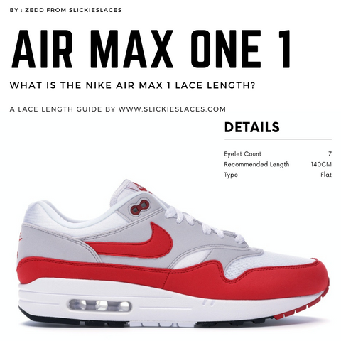 What is the NIKE Air Max 1 lace length? - Air Max 1 Replacement Laces