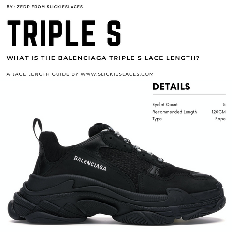 What is the Balenciaga Triple S lace length? - Triple S Replacement Laces
