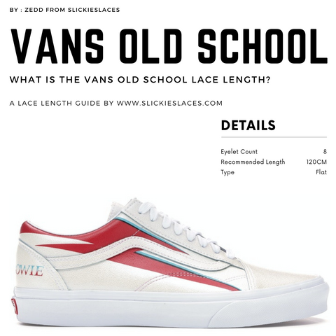 What is the VANS Old School lace length? - VANS Old School Replacement Laces