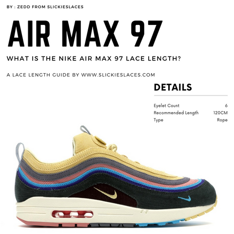 What is the NIKE Air Max 97 lace length? - Air Max 97 Replacement Laces