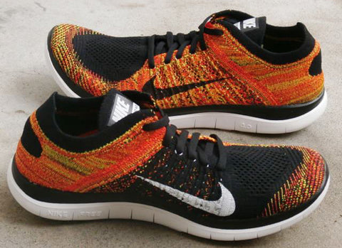 nike flyknit free 4.0 black bright crimson