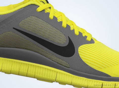 nike flyknit free 4.0 sonic yellow black cool grey