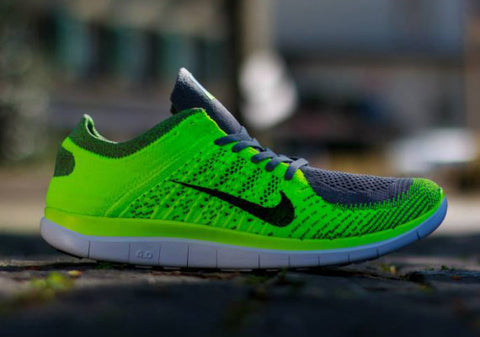 nike flyknit free 4.0 volt light charcoal black