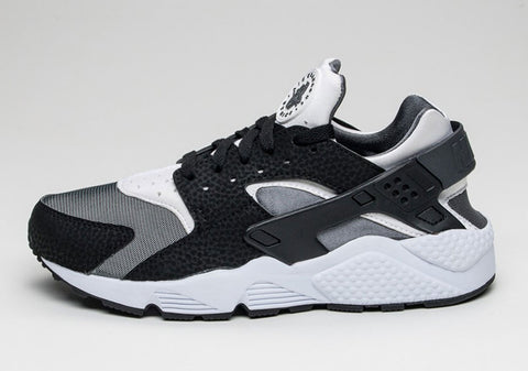nike air huarache black white dark grey