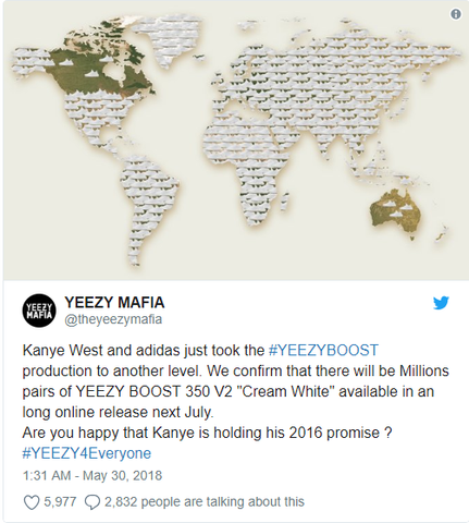 yeezy boost 350 v2 mass restock incoming twitter