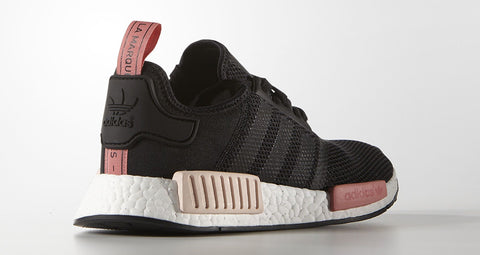 adidas nmd runner r1 original boost black peach