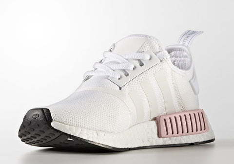 How To Lace Your Sneakers / Swap Your Shoe Laces : ADIDAS NMD R1 White Rose Womens