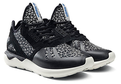 adidas tubular runner geometric pattern black