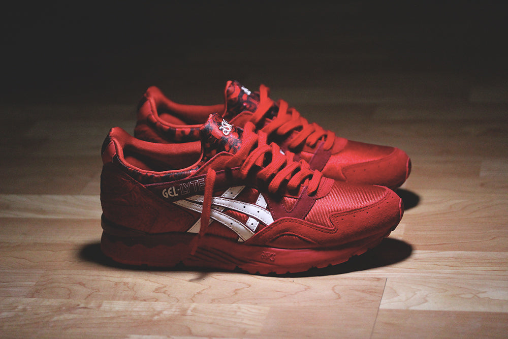 all red asics gel lyte v
