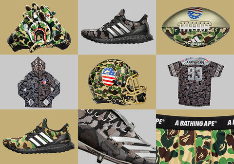 BAPE x adidas Football Super Bowl collection