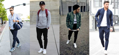 13fa6b805cc65c How To Wear Jogger Pants  Showing Off Your Sneakers - Slickies
