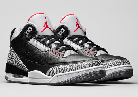 How To Lace Your Sneakers / Swap Your Shoe Laces : NIKE Air Jordan 3 Black Cement