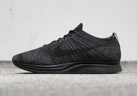 nike flyknit racer midnight triple black