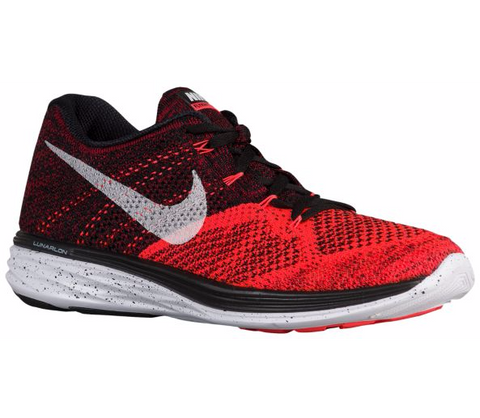 nike flyknit lunar 3 black white bright crimson university red