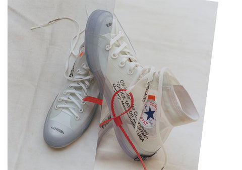 How To Lace Your Sneakers / Swap Your Shoe Laces : OFF WHITE Converse Chuck Taylor