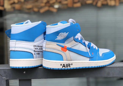 "How To Lace Your Sneakers / Swap Your Shoe Laces : OFF WHITE x Air Jordan 1 ""UNC"""