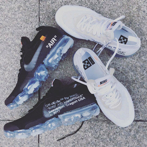 OFF WHITE x NIKE Vapormax Black and White releasing in February 2018