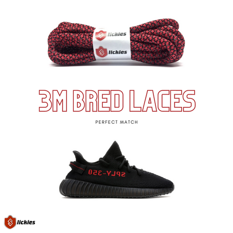 Where to buy 3M shoe laces for the Yeezy Boost 350 V2 BRED 2020?