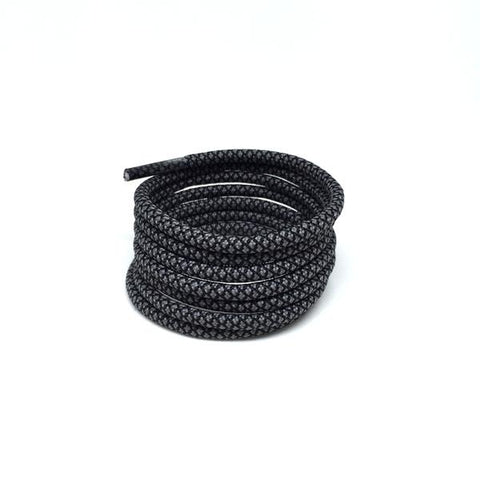 2tone charcoal grey rope shoelaces laces pirate black